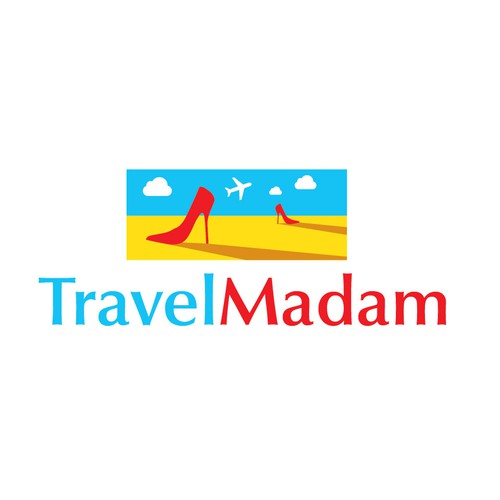 logo concept for travel agency