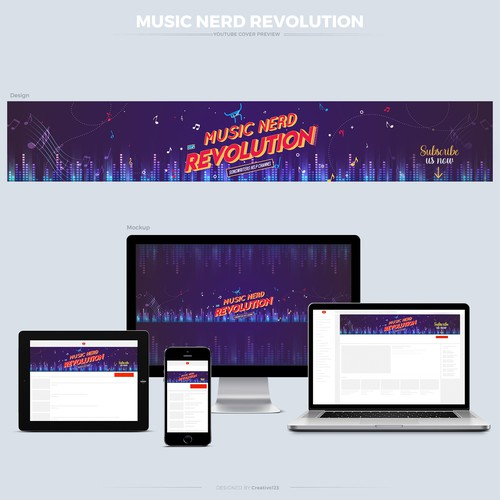 Responsive YouTube cover design