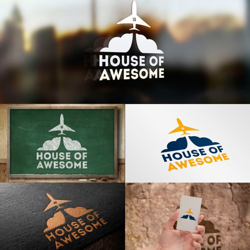 House of Awesome: Logo for digital coworking space in Copenhagen