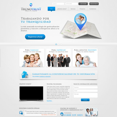 Help Tecnotrust with a new website design