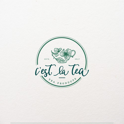 Logo Design for C'est La Tea