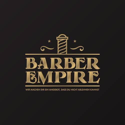 Barber Empire branding concept.