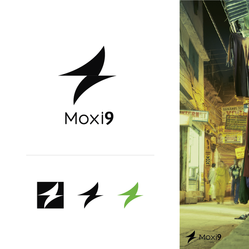 Create a fresh new logo for Moxi9!