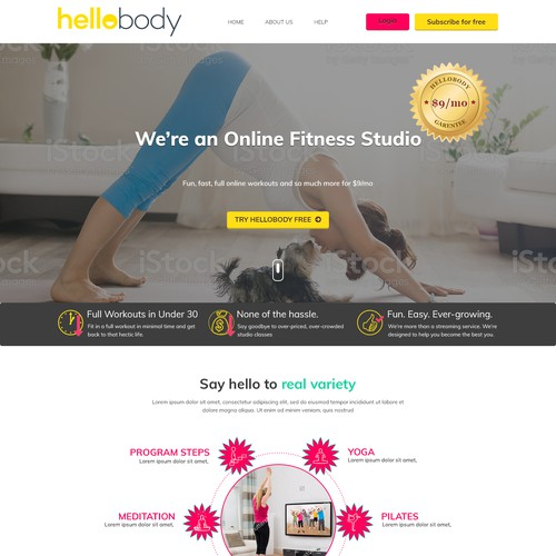 Happy, Healthy Online Fitness Company!