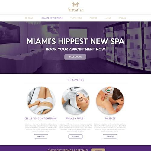Spa webpage design
