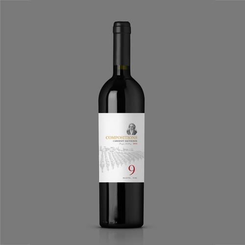 "Wine Label ""Compositions"""