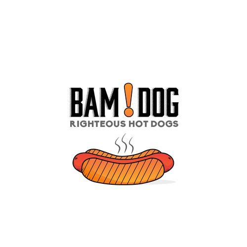 Hot dog's gourmet logo