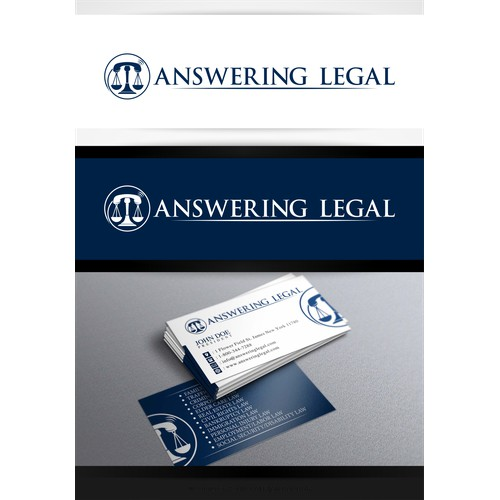 Create a logo for Answering Legal