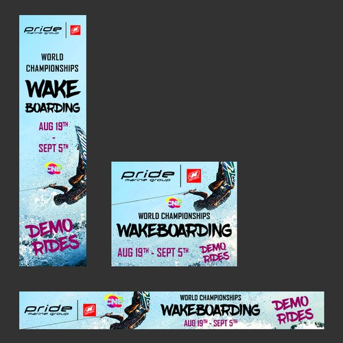Set of banners for World Wakeboard Championships
