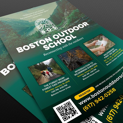 Flyer for Boston Outdoor School