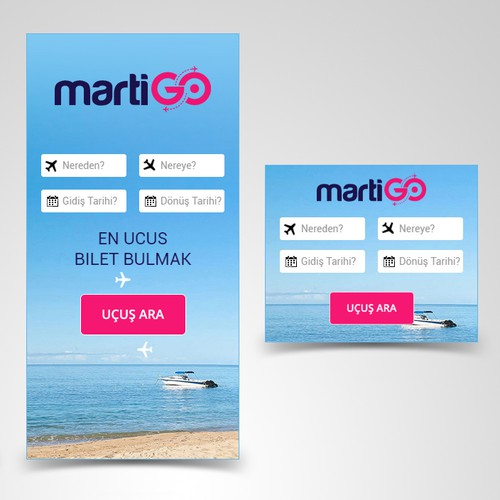 Banner ads design for new flight search portal