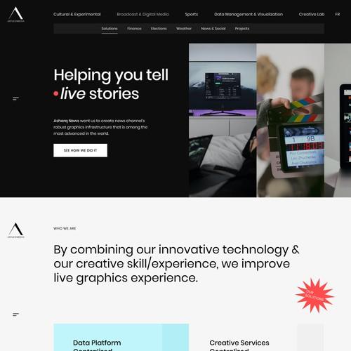 Website Design Concept for Live Data Driven Company