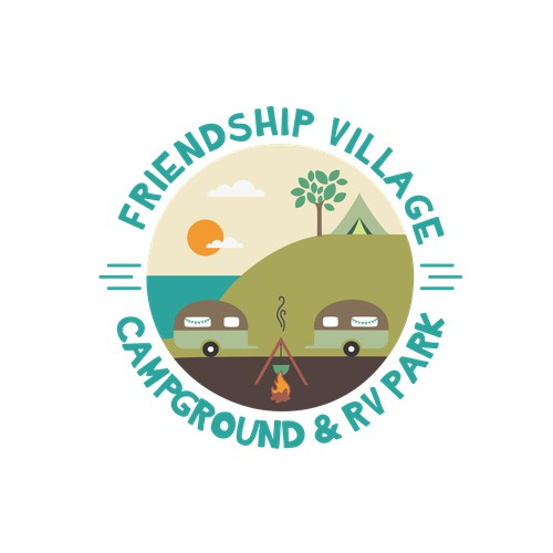 Logo concept for camp on the lake