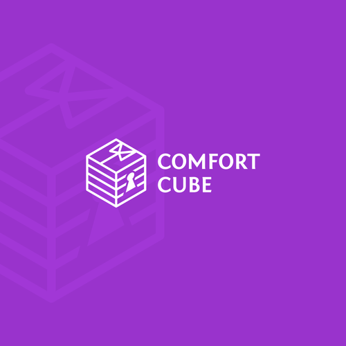 3D perspective logo for clothing care company: Comfort Cube