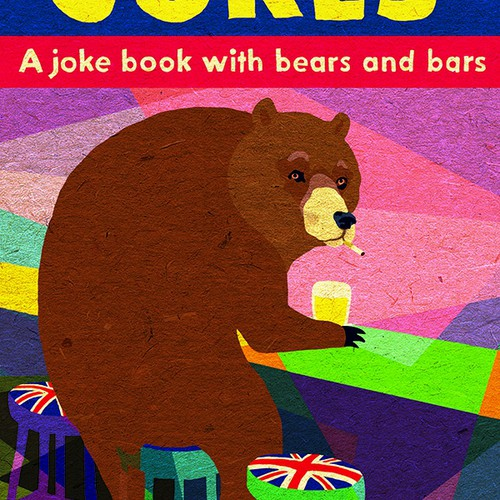 """""""Bad British Jokes"""" Book cover (Winner)"""