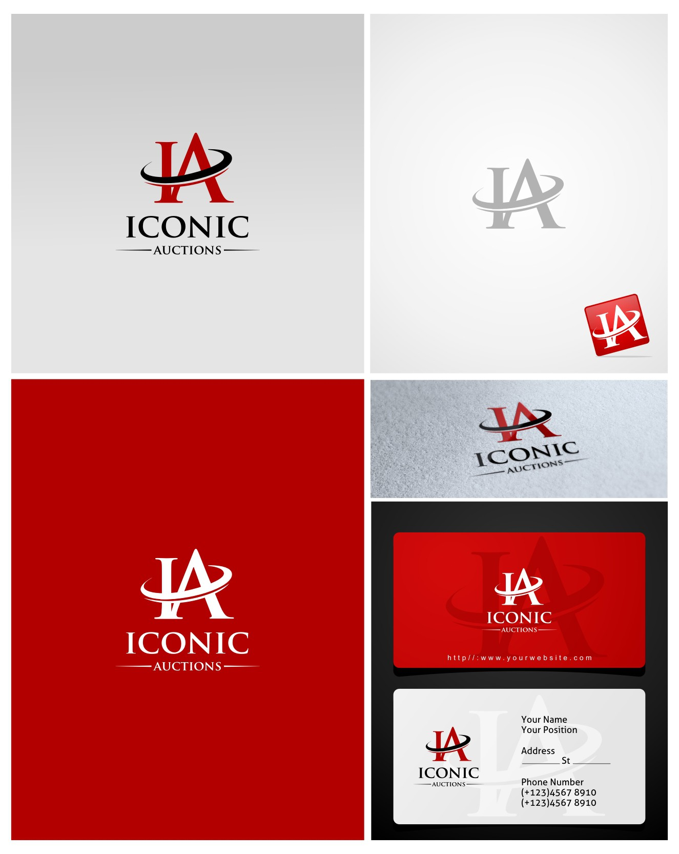 New logo wanted for Iconic Auctions, Iconic or IA