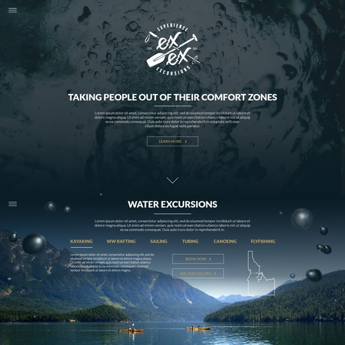 Webdesign for Extreme Outdoor Excursions