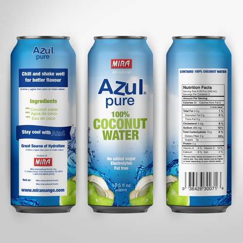Azul pure Coconut water.