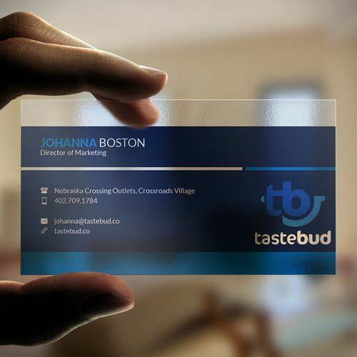 Create a unique business card for tastebud.co