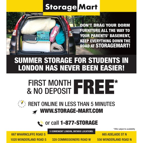 StorageMart newspaper ad