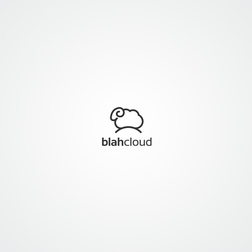 Create a fun/ironic/abstract logo for tech blog: Blah, Cloud