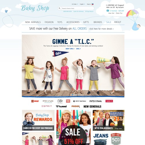 Help Baby Store with a new website design