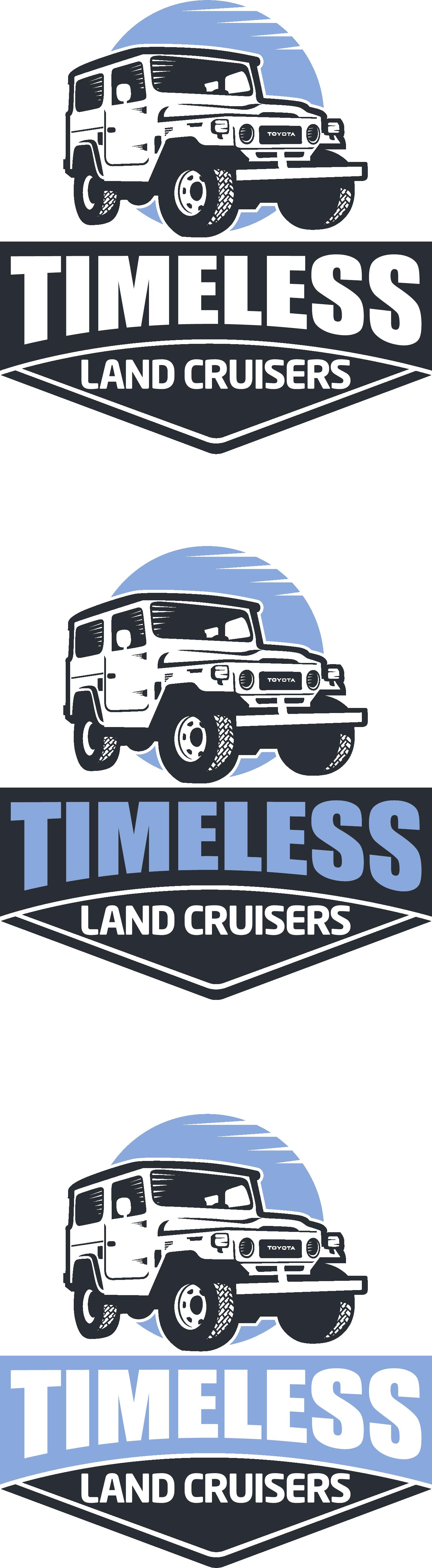 Design a logo for vintage Land Cruiser sales.