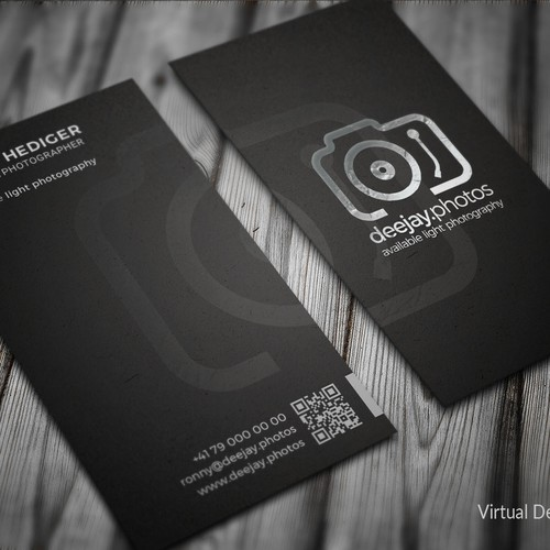 Business Card Design for Deejay Photos