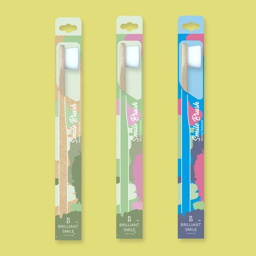 Playful toothbrush packaging design