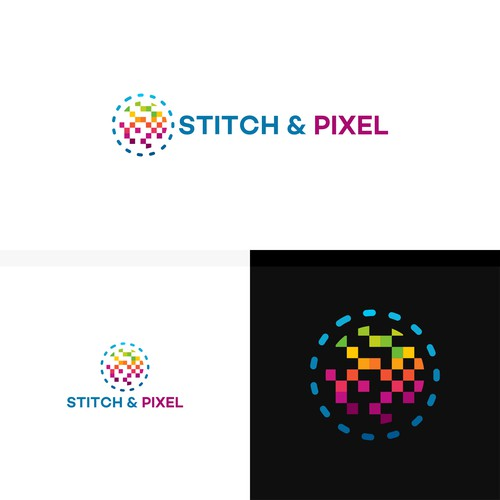 Stitch and Pixel Logo designs