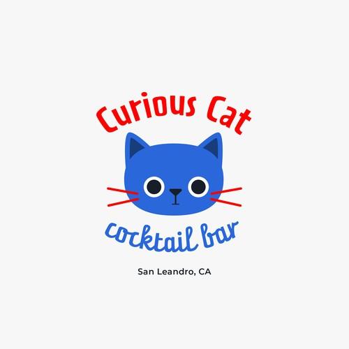 'Curious Cat Cocktail Bar' logo