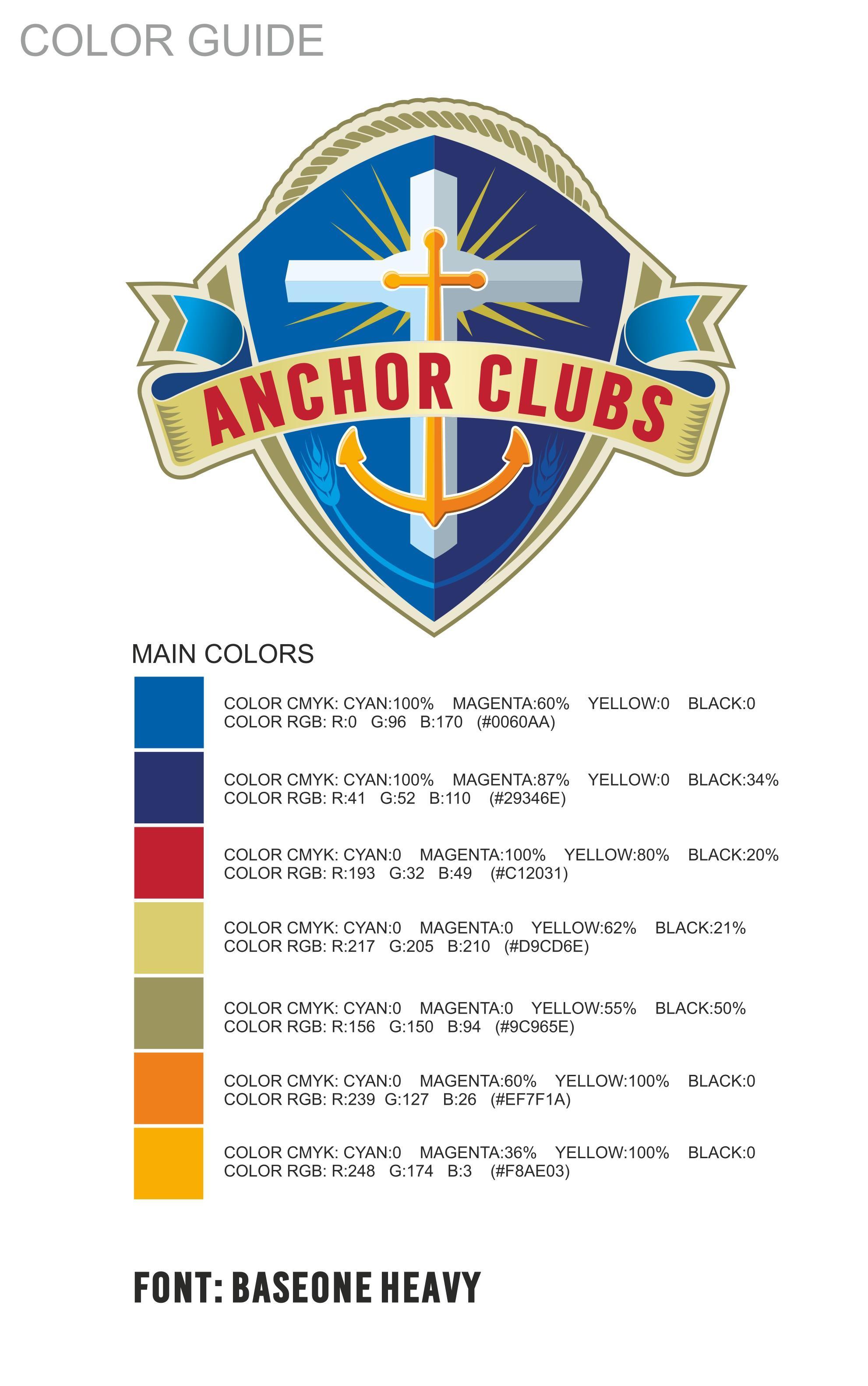 Anchor Clubs Logo Design