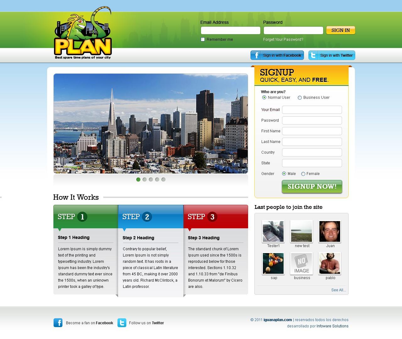 I wanna plan needs a new website design