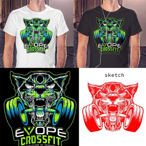 evope crossfit design tshirt