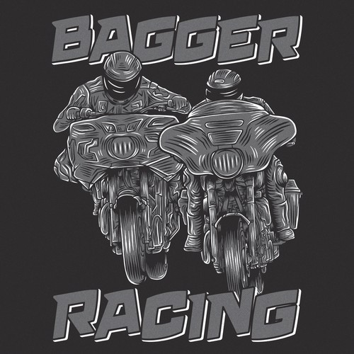 Racing brand shirt illustration