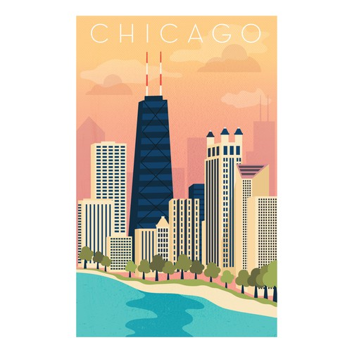 Travel poster design idea