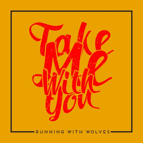 CD Single design for Running With Wolves Band