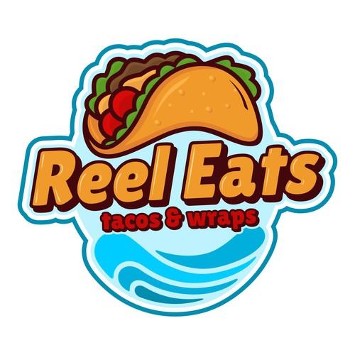 Logo concept of Tacos and Wraps Restaurant