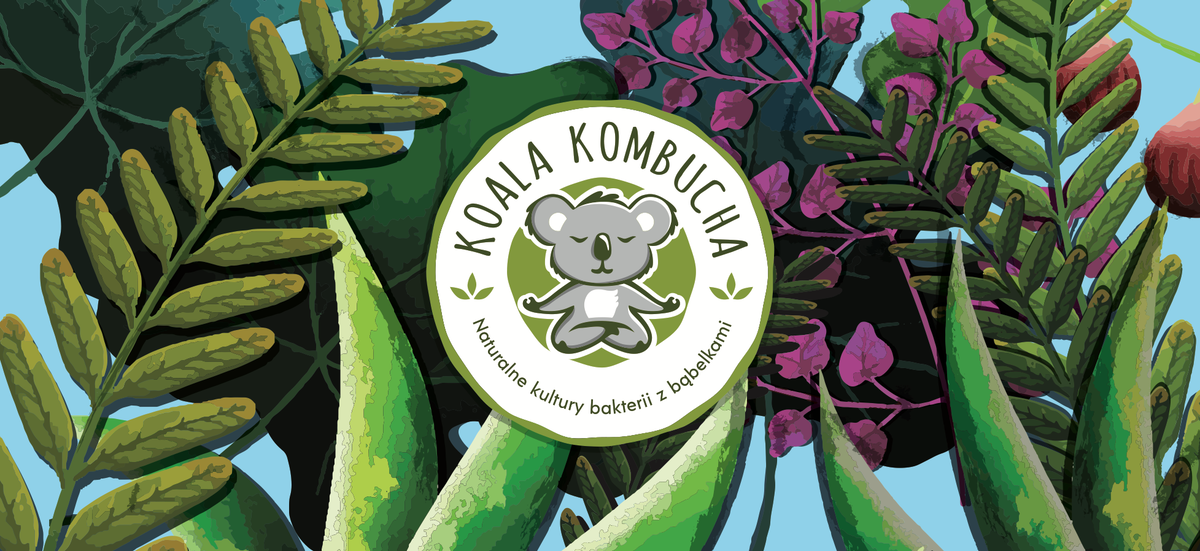 Fridge wrap for organic kombucha company