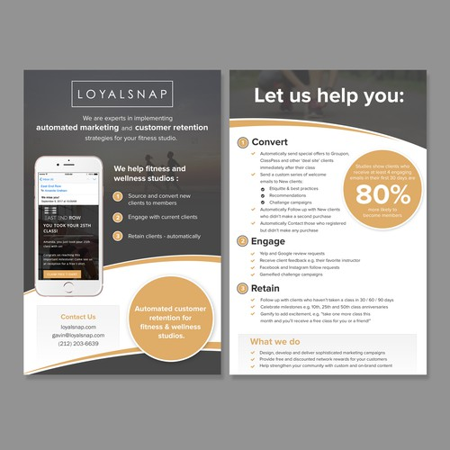 Simple and elegant flyer design for loyalsnap