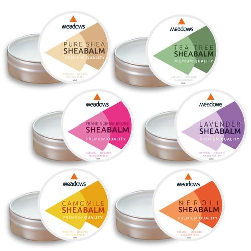 label design for a shea balm