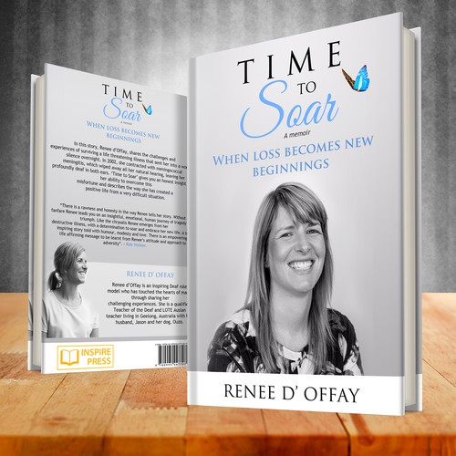 "Winning cover design for Book ""Time to Soar"" by Renee D' Offay"