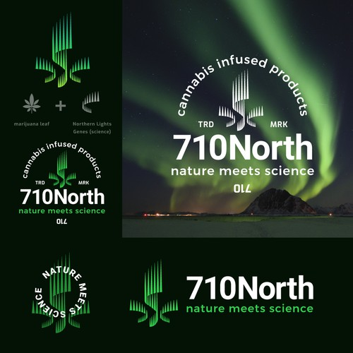 aurora borealis concept for marijuana