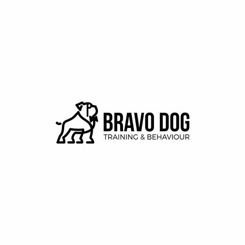 Bold Logo For Dog Training Company