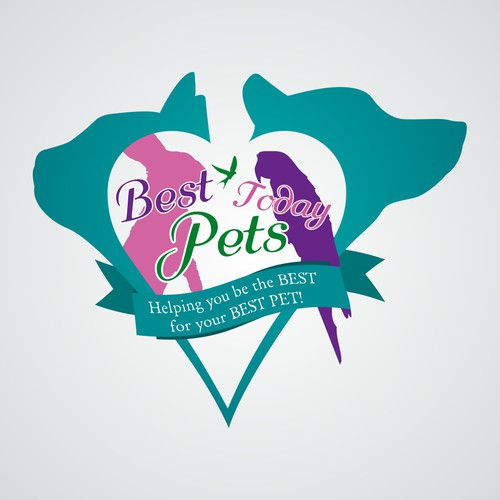 Logo for a pet information website - Best Pets Today