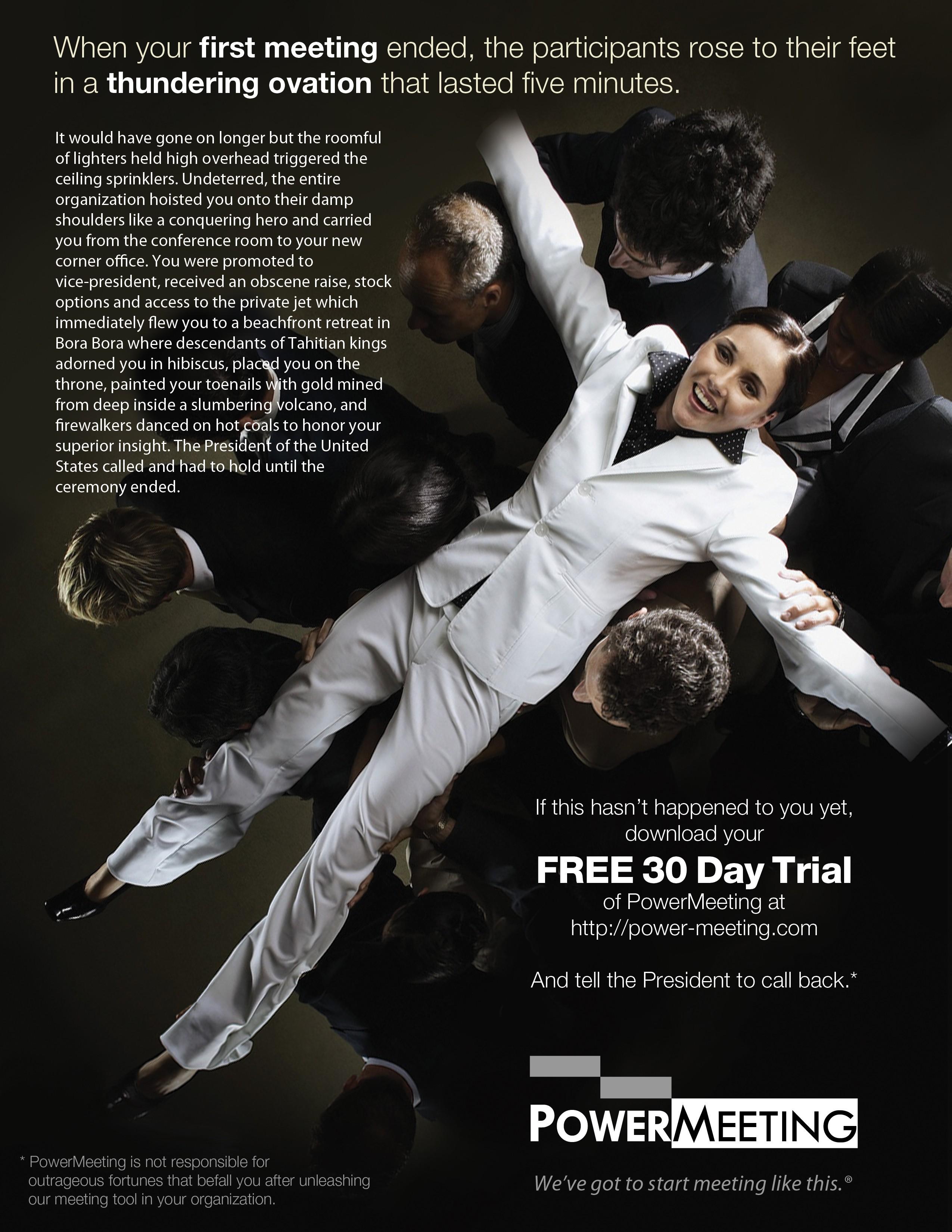 PowerMeeting Full Page Magazine Ad
