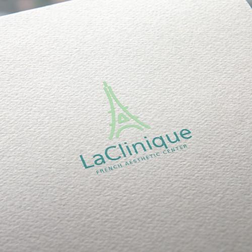 minimal Eiffel tower logo concept.