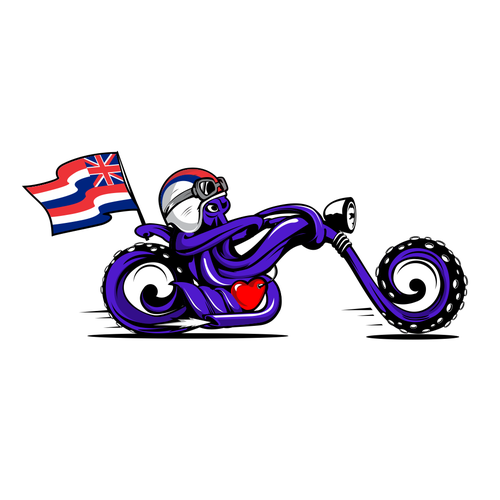 Bold logo for motorcycle riding club
