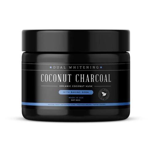 Coconut Charcoal label design