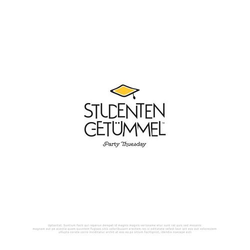 """Logo Design """"Studenten Getümmel"""" Party Tuesday"""